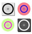 bicycle wheel flat icon vector image vector image