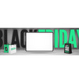 black friday gadgets sale banner template with vector image