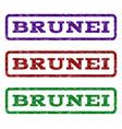 brunei watermark stamp vector image vector image