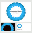 business card design with logo vector image
