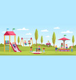 children playground playing happy girls and boys vector image vector image