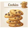 Choc chip cookies 2 Detailed icon vector image