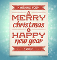 Christmas and new year greeting card with typograp vector | Price: 3 Credits (USD $3)