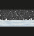 christmas background seamless tiling great choice vector image vector image