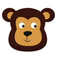 clipart face a cute little bear or color vector image