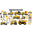construction icons mono symbol vector image vector image
