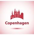 Copenhagen Denmark Nordic capital City skyline vector image vector image