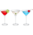 Cosmopolitan Martini vector image