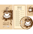 design for the cafe vector image vector image