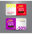 Discount voucher template for half price sale vector image