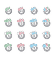 dosage icons vector image vector image