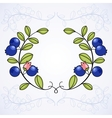 Elegant frame with blueberries vector image vector image