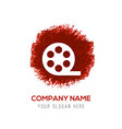 film strip icon - red watercolor circle splash vector image vector image