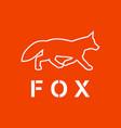fox as a silhouette vector image vector image