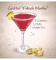 French Martini cocktail vector image vector image