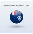French Southern and Antarctic Lands round flag vector image