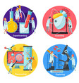 future technology concept icons set vector image vector image