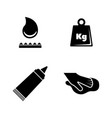 glue simple related icons vector image vector image