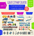 Great city map creator House constructor House vector image