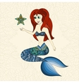 Hand drawn of Ornamental Mermaid vector image