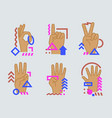 hands showing numbers vector image