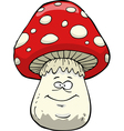 happy amanita vector image