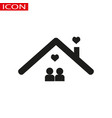 happy couple home icon on the gray vector image