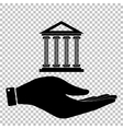 Historical building Flat style icon vector image