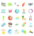 illuminated icons set cartoon style vector image vector image