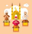 islam islamic prayers flat style colorful vector image