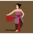 Javanese java woman traditional dance performance vector image vector image