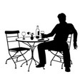 jilted man silhouette vector image vector image