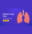 lung anatomy health banner concept tuberculosis vector image