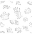 meat products seamless pattern hand drawn design vector image