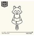 Meditative Animals series - raccoon vector image vector image