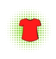 Men t-shirt icon comics style vector image vector image