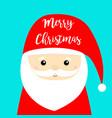 merry christmas santa claus face head icon new vector image vector image