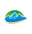 mountain icon logo image vector image vector image