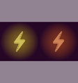 neon icon of yellow and orange electric energy vector image