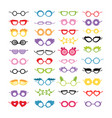 photo booth props party glasses masks isolated vector image vector image