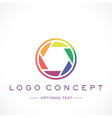 photography logo and text for designs vector image