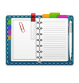 realistic 3d organizer notebook color stickers vector image