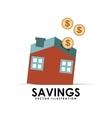 savings house vector image