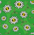 seamless floral pattern with chamomile vector image vector image