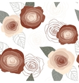 Seamless roses pattern on white background vector image