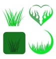 Set of Green Grass Icons vector image