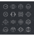 Set of Retro Vintage Hipster Insignias and vector image vector image