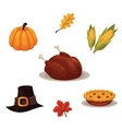 Set of traditional thanksgiving symbols vector image