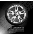 Shiny car wheel vector | Price: 1 Credit (USD $1)