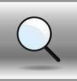 simple magnifier icon vector image